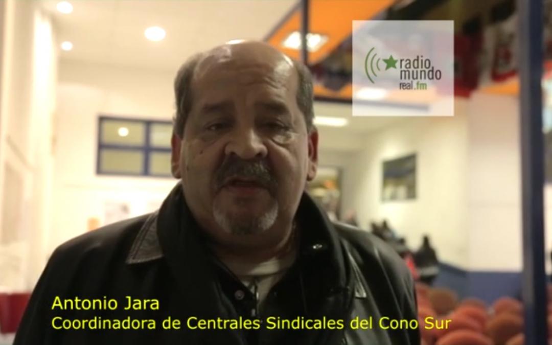 Hacia la Jornada #4N: Antonio Jara- Coordinadora Centrales Sindicales del Cono Sur