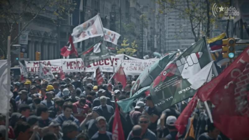 Dilma Rousseff en Montevideo: gran manifestación en el momento central de la Jornada Continental
