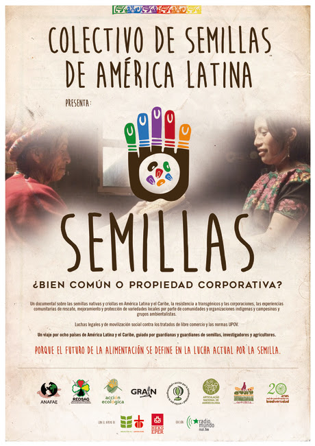 """El Colectivo de Semillas de América Latina presenta el documental: """"Semillas ¿Bien común o propiedad corporativa?"""""""