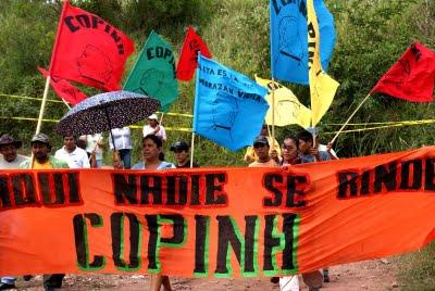 En solidaridad con COPINH y la defensa de las aguas en Honduras