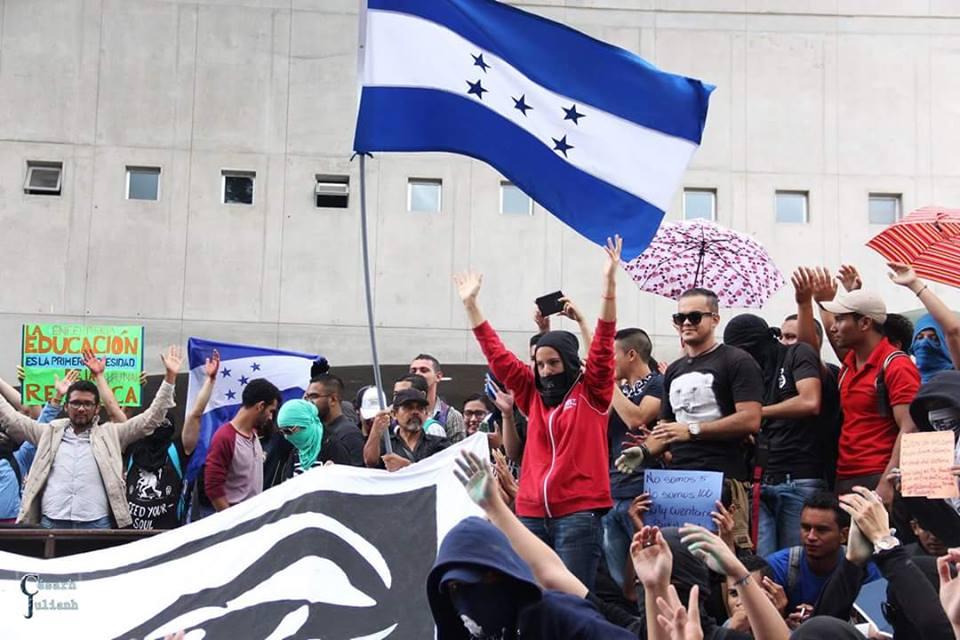 Repudio al Estado de Sitio y a la represión al pueblo hondureño