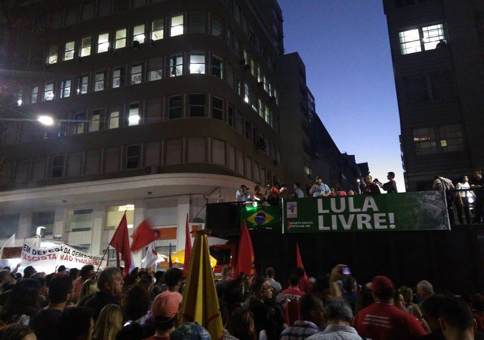 Repudio al pedido de prisión para el ex presidente Luiz Inácio Lula da Silva