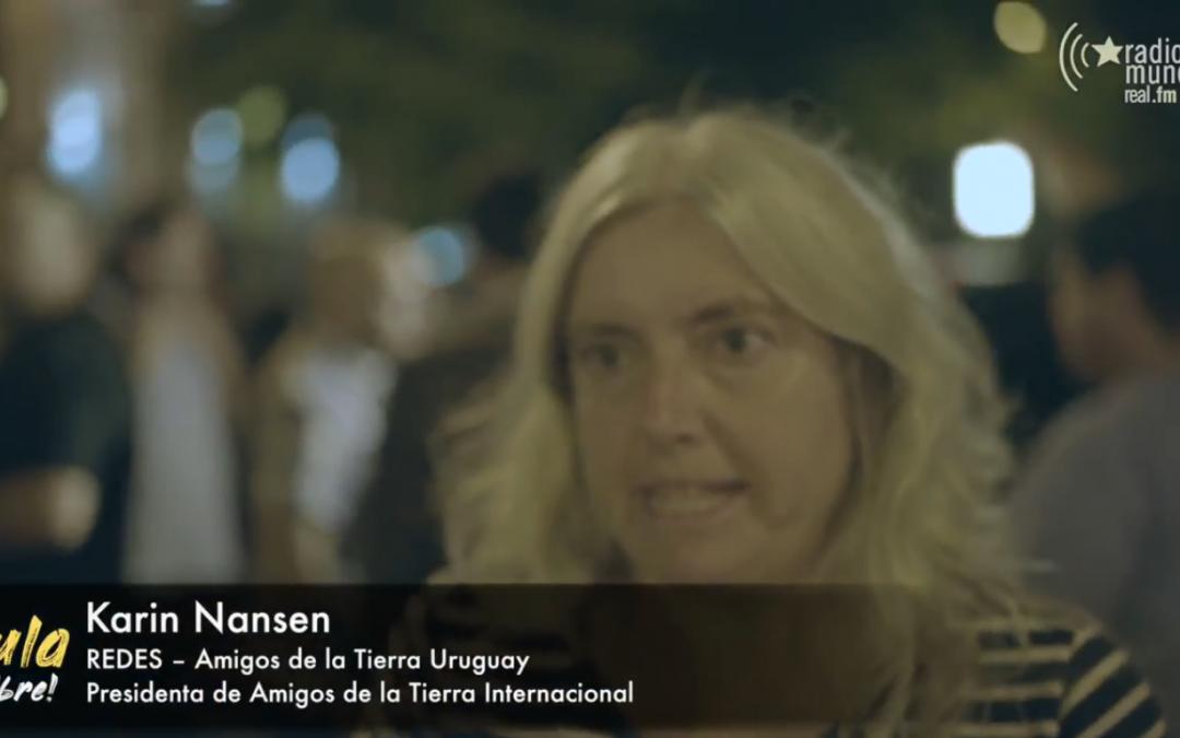 """Movilización en Montevideo exige libertad del ex presidente brasileño Luiz Inácio """"Lula"""" da Silva"""