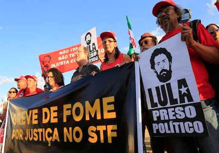 Por la votación de los ADC en Brasil, Lula Libre y fin de la huelga de hambre.