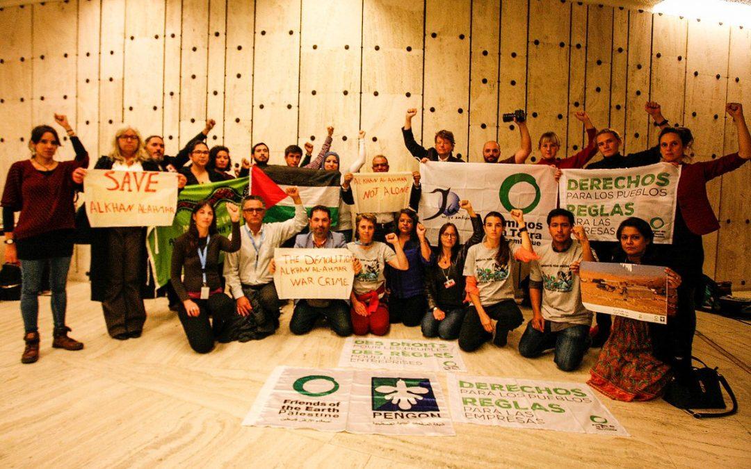 Solidaridad con la comunidad palestina de Khan al Ahmar