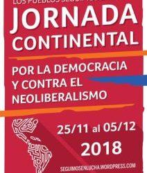 La Jornada Continental por la Democracia y contra el neoliberalismo rechaza la reunión del G-20
