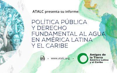 Política pública y derecho fundamental al agua en América Latina y el Caribe