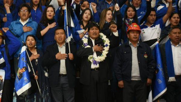 Repudio al intento de golpe de Estado en Bolivia